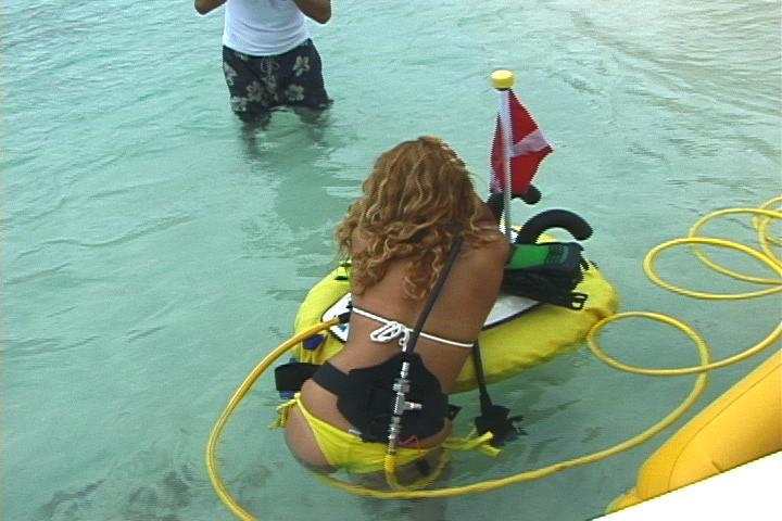 Hookah diving - Floating dive compressor ...